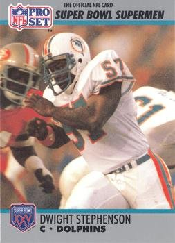 - Dwight Stephenson football card (Miami Dolphins 1972) 1990 Pro Set #72 Super Bowl Supermen