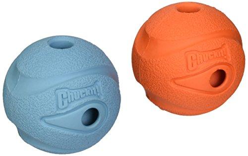 "Petmate 20220 2.5"" Medium Blue/Orange Chuckit! Whistler Ball"