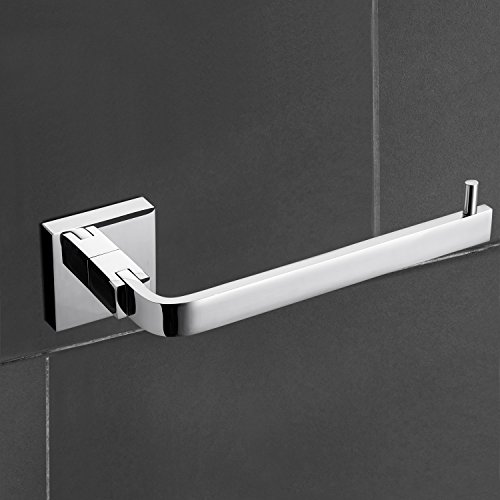 StarFashion 3-peice Bathroom Accessories Set Towel Bar Toilet Paper Holder Robe Hooks Bathroom Shelf Solid Brass Wall Mounted,Chrome Finish Contemporary Bath Shower Set Kitchen Towel Racks by StarFashion (Image #2)