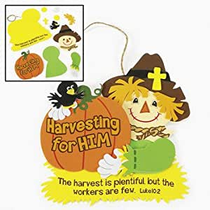 Harvest inspirations bible verse sign craft for Amazon arts and crafts for kids