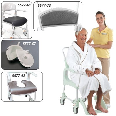 Etac Clean Shower/Commode Chair Commode Pan with Lid; color Green
