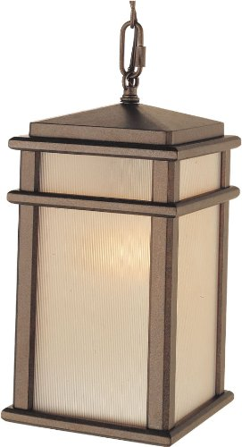 - Feiss OL3411CB Mission Lodge Outdoor Lighting Pendant Lantern, Bronze, 1-Light (7