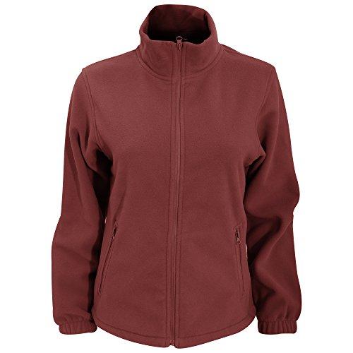 Burgundy Lines Full Zip Jacket (2786 Womens/Ladies Full Zip Fleece Jacket (280 GSM) (S) (Burgundy))