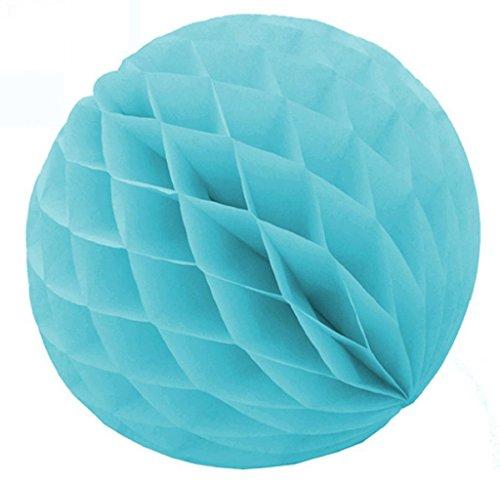 SUNBEAUTY 2(5cm) Pack of 20 Sky Blue Tissue Paper Honeycomb Balls Wedding Decoration Birthday Baby Shower Bridal Shower