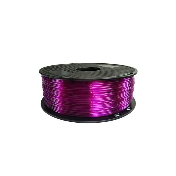 Tonglingusl tpu 3d filament flexible soft 3d printing material filament flex 1.75mm printer modeling (color : 1kg tran purple, size : free)