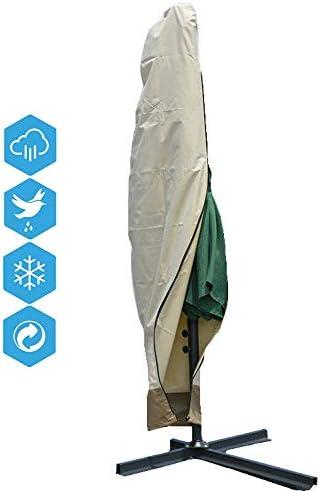 ClothHouse Aire Libre Funda Sombrilla Jardin, Funda para Parasol Impermeable con Cremallera, Oxford 600D, Parasol Excéntrico, Impermeable contra Rayos UV Y Lluvia: Amazon.es: Hogar