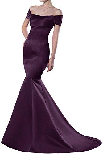 Olive Gruen Fesltichkleider Satin La Abendkleider Elegant Meerjungfrau Traube Braut aus Lang Partykleider Ballkleider mia CIZZqtwxv