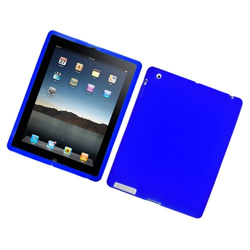 For Apple Ipad 2 Ipad 3 the New Ipad Accessory - Blue Silicon Skin Case Protector Cover + Free Lf Stylus Pen from Unknown