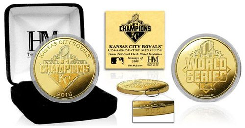 MLB Kansas City Royals 2015 World Series Champions Gold Mint Coin by The Highland Mint