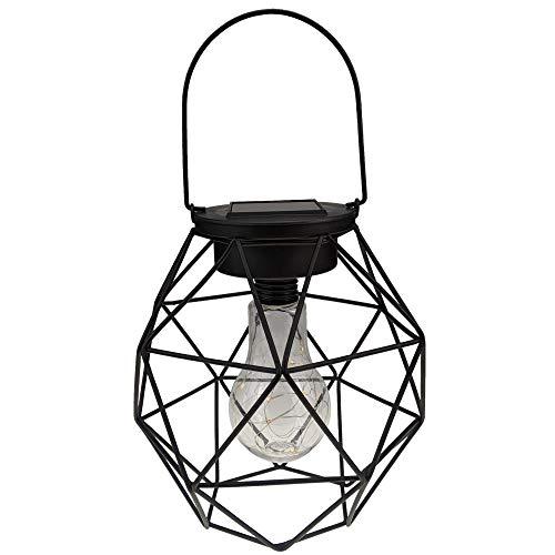 Yard Island Solar Hanging Pendant Fairy LED Cage Lantern (Style 2)