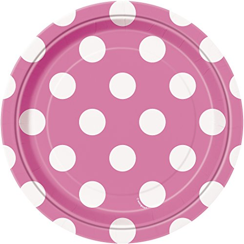 Cute Homemade Baby Costumes (Hot Pink Polka Dot Paper Cake Plates, 8ct)