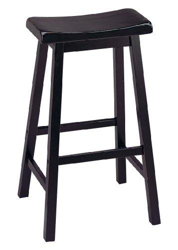 ACME Gaucho Black  Bar Stool Set of 2