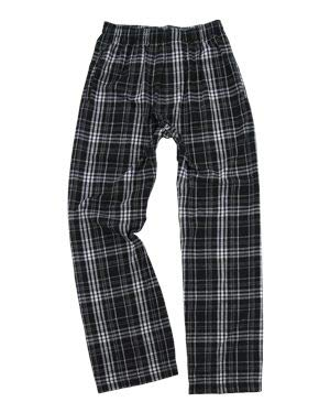 Boxercraft Youth Flannel Pants with Pockets M Black/Grey