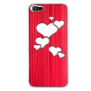 conseguir Nuevo sentido de metal pulido amor del corazón la luz del flash llevó el caso duro cambiar de color para el iphone 5 , Rosa