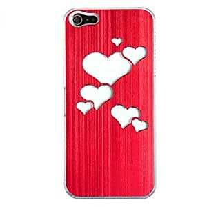 New Sense Brushed Metal Love Heart Flash Light LED Color Changing Hard Case for iPhone 5 --- COLOR:White