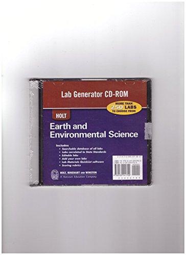 Holt Environmental Science: Lab Generator CD-ROM