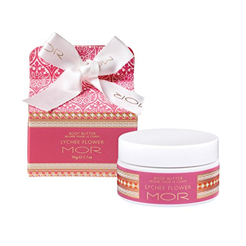 Mor Cosmetics Mini Body Butter, Lychee Flower, 1.7 Ounce