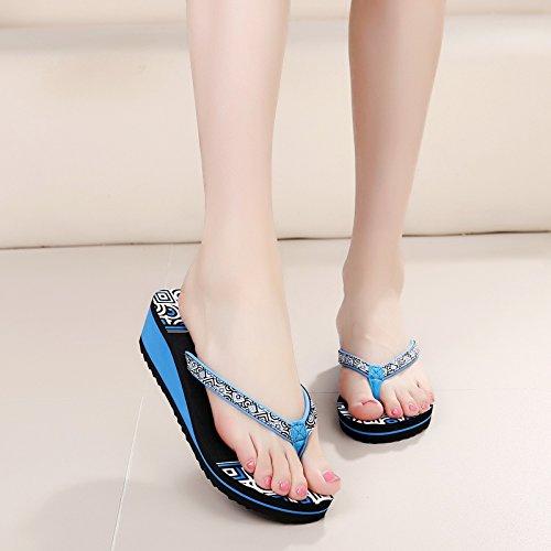 9d591490ec De bajo costo Flip-flops sandalias zapatillas mujer moda Bohemia flip flops  verano pendiente con