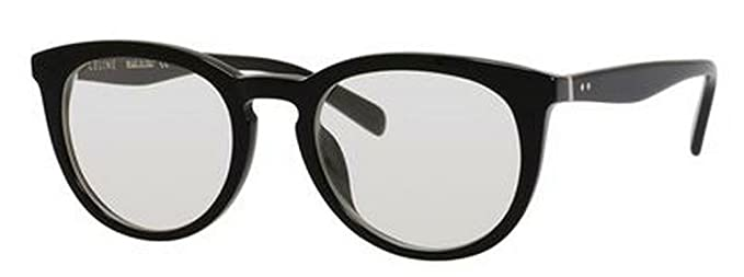 8fa27e59a0e4 Amazon.com  Celine 41081 S Sunglass-0807 Black (99 Transparent Lens ...