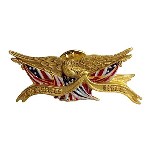 Gold America Shield (Gold Finish Eagle American Flag Lapel Pin 1.50