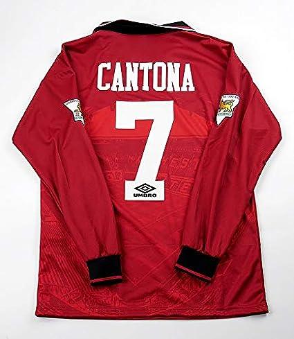 BROOK Eric Cantona#7 Manchester United Home Retro Long Sleeve ...
