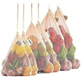 3 Pack Reusable Cotton Mesh Produce Bags, Washable, Eco Friendly for Grocery Shopping, Fruit and Vegetable Storage and Toy Storage