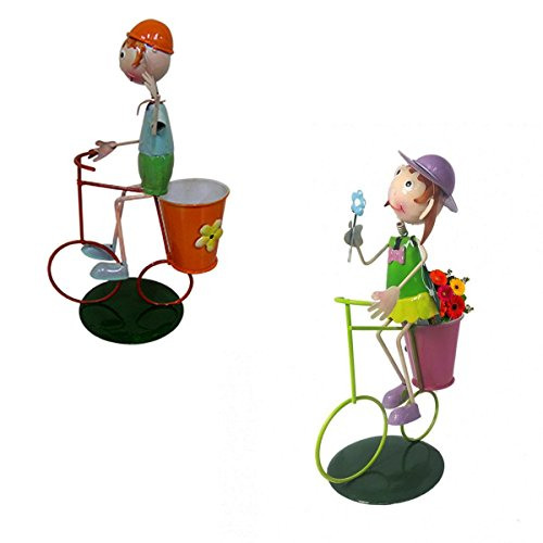 Casal Bonecos com Bicicleta Enfeite e Decoracao Jardim Casa (bon-m-13)