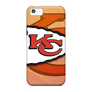 Shockproof Hard Phone Case For Iphone 5c With Allow Personal Design Beautiful Kansas City Chiefs Image AlissaDubois