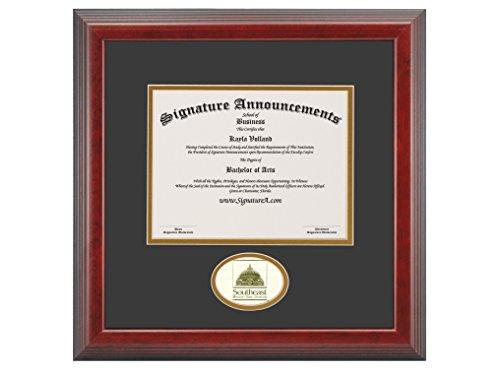 "Signature Announcements"" Southeast-Missouri-State-University Undergraduate, Professional/Doctor Sculpted Foil Seal Graduation Diploma Frame, 16"" x 16"", Cherry"