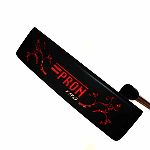 (Japan Epron CNC Milled Face Blade Putter Golf Club +Leather Cover (Black))
