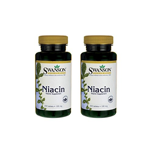 Swanson Niacin 100 mg 250 Tabs 2 Pack