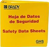 Brady 121186 GHS - 3'' Safety Data Sheet Binder - Spanish