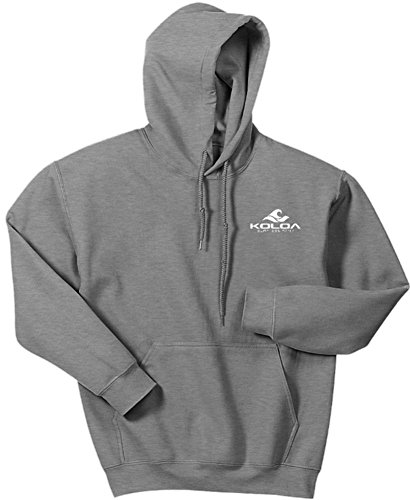 Koloa Classic 2 Side Wave Logo Hoodies-Hooded Sweatshirt-Sport.Grey-XL