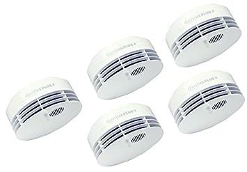 Hekatron Genius Plus X Detectores de humo + Radio Módulo base X - 5 Unidades: Amazon.es: Bricolaje y herramientas