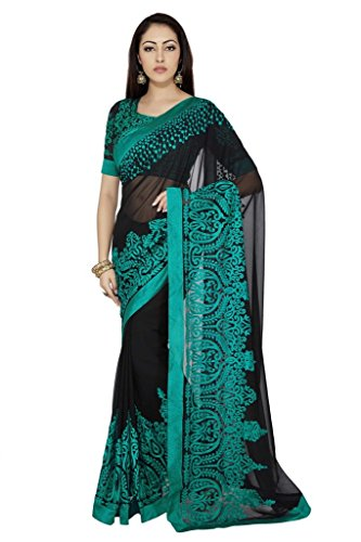 Poshvariety Women's Satin And Net Saree