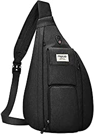 MOSISO Sling Backpack Hiking Daypack,Vertical Zipper with Pockets Crossbody Bag