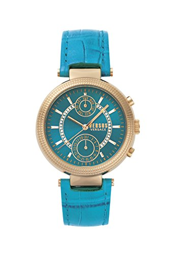 Versus by Versace Women's 'Star Ferry' Quartz Stainless Steel and Leather Casual Watch, Color:Green (Model: S79050017)