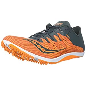 Saucony Men's Endorphin 2 Track and Field Shoe, Orange/Grey, 9.5 Medium US