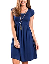Angashion Women Summer Beach Casual Swing Tunic Midi Tank...
