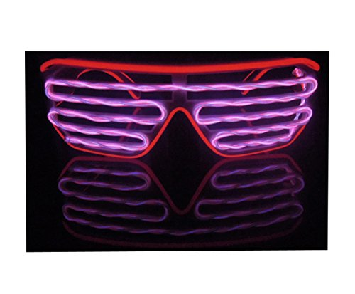 RaveLife Shutter Shades Neon Galsses EL Wire LED Sunglasses Costumes For Party 2018 NEW DESIGN