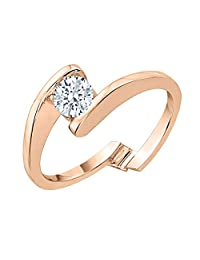 KATARINA Diamond Bypass Solitaire Promise Ring in 10k Gold (3/8 cttw, J-K, SI2-I1)