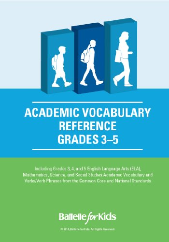 Academic Vocabulary Reference, Grades 3-5: a Teacher Planning Tool with Academic Content, Verbs, and Verb Phrases From the Common Core and National Standards