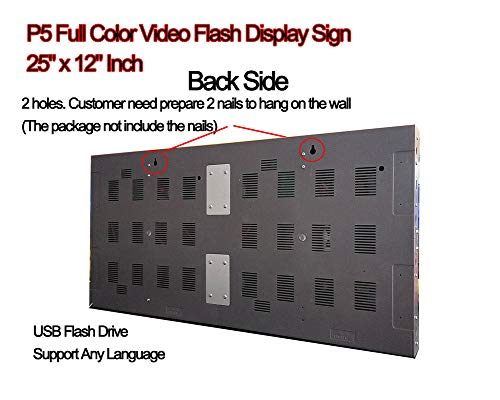 Video Full Color High Definition P5 LED Sign 25''x 12'' Programmable Scrolling Display Message Board by iSparkLED (Image #3)