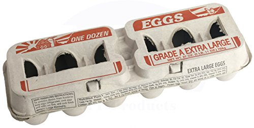 Printed Natural Pulp Extra Large Egg Cartons (Holds 1 Dozen Eggs) (25 Cartons) (Egg Cartons Wholesale)