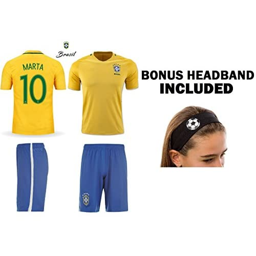 c60759987cd 85%OFF JerzeHero Brazil Marta  10 Girls Youth 3 in 1 Soccer Gift Set ...