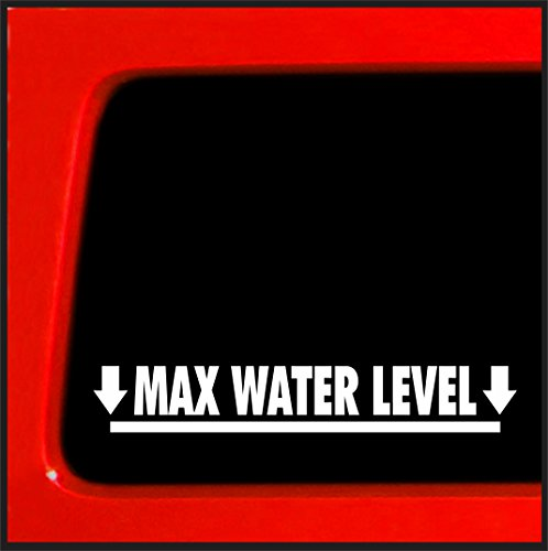 Max Water Level - sticker for jeep 4x4 decal offroad funny SUV
