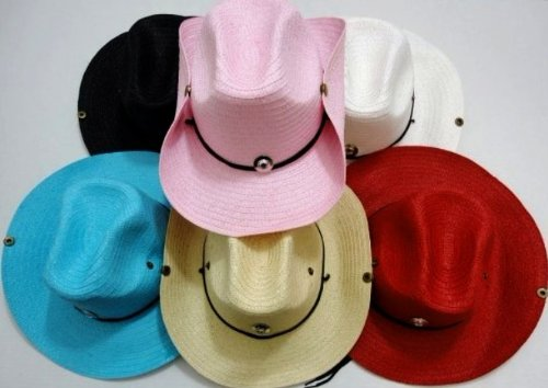Woven Cowboy Hats With Jewel Detail (24 Pieces) [Misc.] (Woven Jewel)
