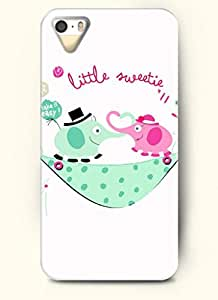 OOFIT Phone Case design with Two Elephants Wanna Kiss for Apple iPhone 5 5s 5g