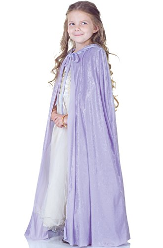 Panne Velvet Costume Cape Child: Lavender Select Size: One Size Fits Most (Dog Halloween Costume Contest)