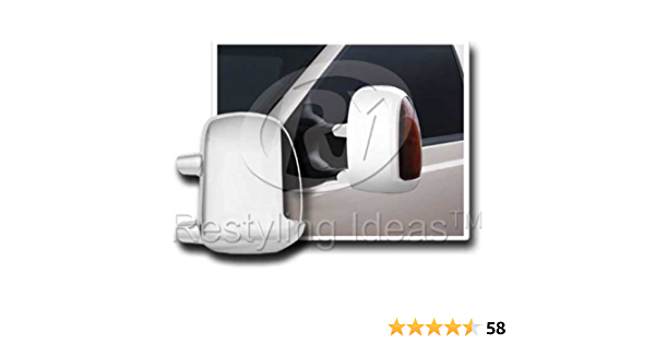 For 99~07 Ford F250 F350 Excursion Chrome Mirror Covers W//TS